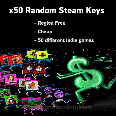 x50 Random Steam Keys - REGION FREE + BONUS (9$+ game)