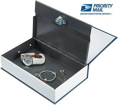 Dictionary Lock Box Book Safe with Key for Traveling Money Watches and Jewelry