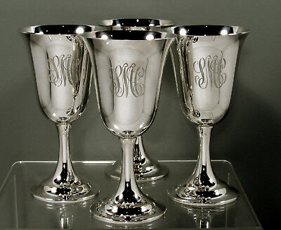International Silversmiths Sterling Goblets     (4)  LORD SAYBROOK