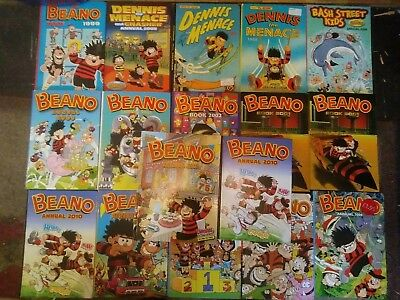 17 Assorted Beano Annuals Job Lot 1988-2013 (list in info)