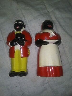 Southern Black Servants, Butler/Cook - Salt & Pepper Shakers From 1977