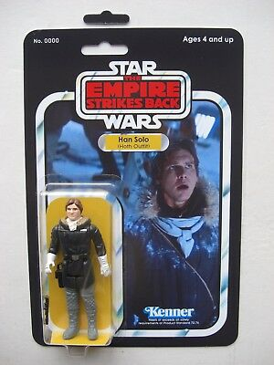 Vintage STAR WARS HAN SOLO HOTH OUTFIT CUSTOM on Empire Strikes Back style MOC