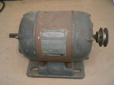 Vintage Crafsman dual shaft electric Motor with pulley  3/4 HP 115V 3450 RPM