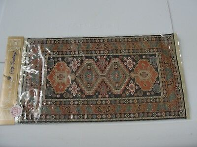 """Dollhouse Miniature Woven 18th.Century Style Rug  NRFP   10 1/2"""" by 6"""""""