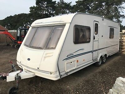 Sterling elite searcher caravan twin axle 2002/03 model logbook fixed bed l@@k