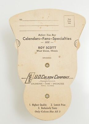 Trifold Advertising Hand Fan from the maker Colson Company Paris Illinois