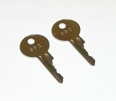 2 - 992 File Cabinet Keys fit Vintage Art Metal, Sargent & Greenleaf, Yale Locks