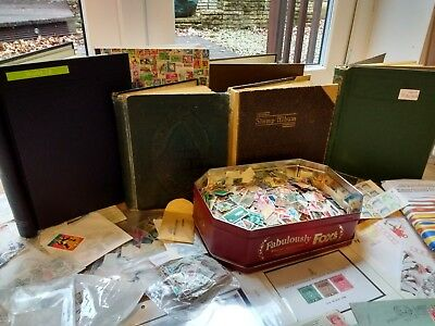 Large World Collection in Box, Albums, Packets, Pages etc mint and used