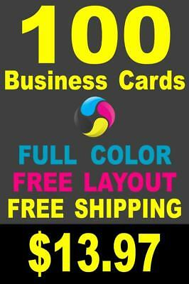 100 Full Color Gloss Custom Business Cards - Plus FREE Shipping - $13.97