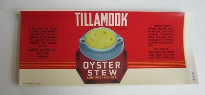 Wholesale Lot of 50 Old Vintage 1950's - Tillamook OYSTER STEW Can LABELS - ORE.