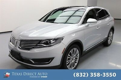 2018 Lincoln MKX Reserve Texas Direct Auto 2018 Reserve Used 3.7L V6 24V Automatic AWD SUV Moonroof