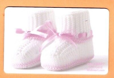 Collectible Walmart Gift Card - Baby Booties - No Cash Value - VL-5031