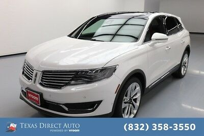 2017 Lincoln MKX Reserve Texas Direct Auto 2017 Reserve Used Turbo 2.7L V6 24V Automatic AWD SUV Premium