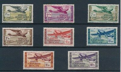 [90292] French Equatorial Africa Planes good set Very Fine MNH stamps