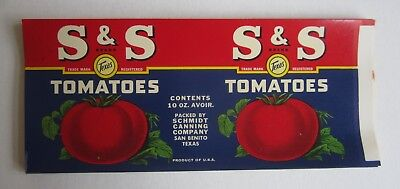Wholesale Lot of 50 Old Vintage - S&S TOMATOES - Can LABELS - San Benito TEXAS