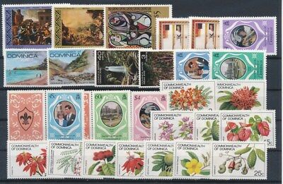 [G89586] Dominica good lot Very Fine MNH stamps