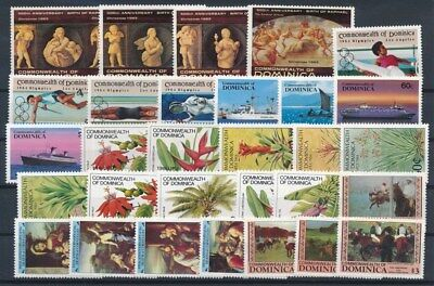 [G89589] Dominica good lot Very Fine MNH stamps