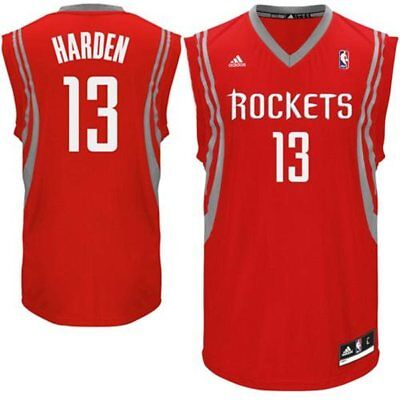 4fbf96f94 James Harden 13 Houston Rockets Red Road Swingman Size Small S Adidas NBA  Jersey
