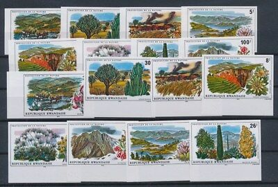 [G89606] Rwanda 2x good imperforated set Very Fine MNH stamps