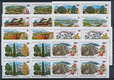 [G89617] Rwanda good imperforated set Very Fine MNH stamps in blocks of 4