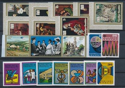 [G89646] Rwanda good imperforated lot Very Fine MNH stamps