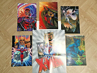 1994 Fleer Ultra Print - X-men - 5 Cards, Poster and Envelope - Great Shape