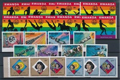 [G89657] Rwanda good imperforated lot Very Fine MNH stamps