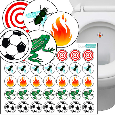 Toilet Thingies - Variety Pack of 35 Training Stickers. Superior Quality...