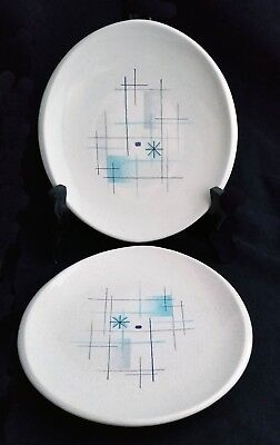 """Set of 2 Classic 1950's Franciscan """"Oasis"""" Salad Plates, Excellent Condition"""