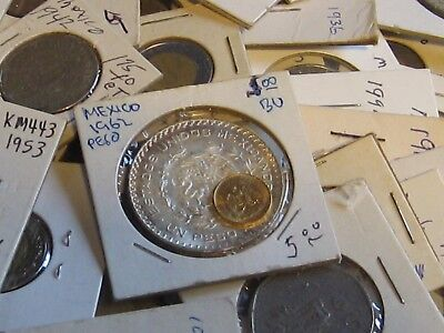 Huge Mexico Collection Over 190 Coins! 1789 to Modern with Silver and Gold! NR!