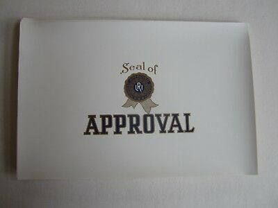 Wholesale Lot of 50 Old Vintage - SEAL OF APPROVAL - Cigar Box LABELS