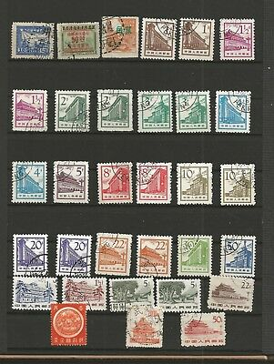 1 schönes Lot,alte Briefmarken China,gestempelt,Lot 23
