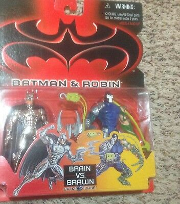 BATMAN AND ROBIN THE MOVIE - BRAIN VS BRAWN - KENNER 1997 Action Figures New!