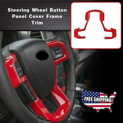 1X Inner Steering Wheel Moulding Decorative Panel Cover Trim for Ford F150 15-17