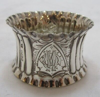 Antique Victorian Sterling silver napkin ring, 30g, 1900