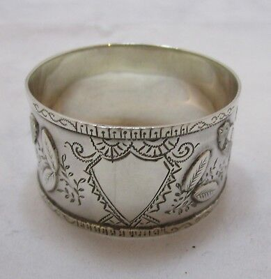 Antique Victorian Sterling silver napkin ring, 16g, 1891