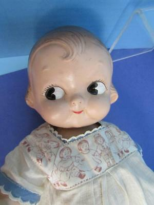 """Antique Vintage 12"""" Campbell Soup Kid Dolly Dingle Composition Doll"""