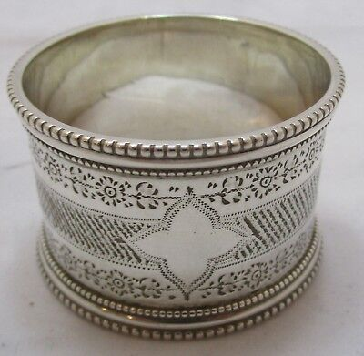 Antique Victorian Sterling silver napkin ring, 45g, 1899