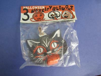 Vintage 1950's  Halloween Novelty Blow Out Horns One  In Package