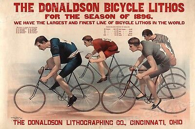 Bicycle Race Poster 1896 Cycling Lithograph Art Print - 16x24