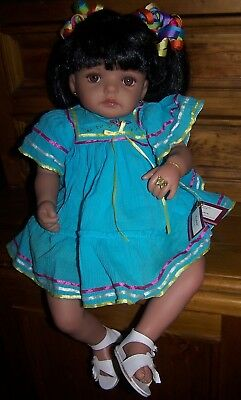 """isabel"" - Real Touch Hispanic Vinyl Doll - 22"""
