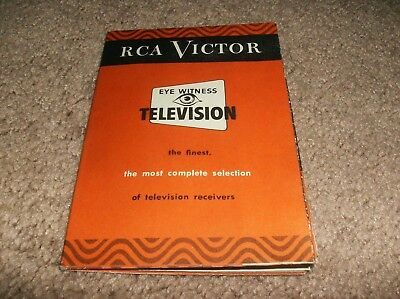 Rca Victor Eye Witness Television Brochure - 1949
