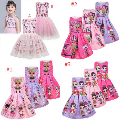 Girl Princess Dress Lol Surprise Doll Dress Holiday Pageant Birthday Dress Gift