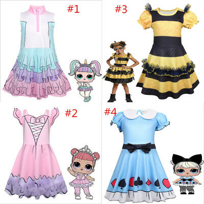 Girl LoL Surprise Doll Fancy Dress Princess Party Halloween Cosplay Costume