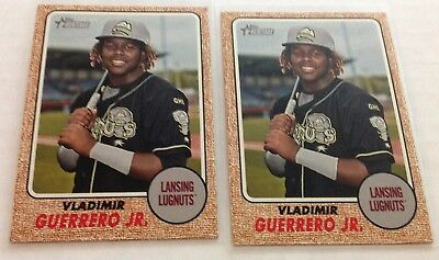 (2) 2017 Heritage Minors #215 Vladimir Guerrero Jr Sp Lot