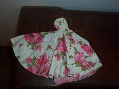 Vintage Barbie Gown (Pink , Green And White Floral    ( Homemade)