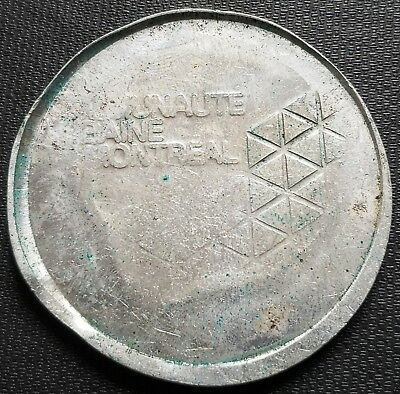 Communaute Urbaine Montreal Trial Piece Medal - RARE - Large 53 mm