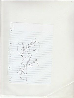 Chuck Berry - Vintage Genuine Hand Signed Page With Coa