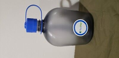 Nalgene Everyday Canteen, Oasis Gray, 38mm, Narrow Mouth, 32 OZ, Blue Cap