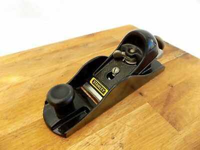 Vintage STANLEY Low Angle Wood Block Plane Smooth Bottom G12-220 MADE IN ENGLAND